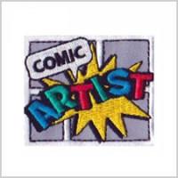 Comic Artist Girl Scout Fun Patch