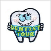 Dentist Tour Girl Scout Fun Patch