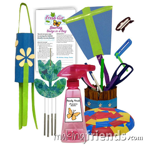 Girl Scout Fresh Air Badge in a Bag via @gsleader411
