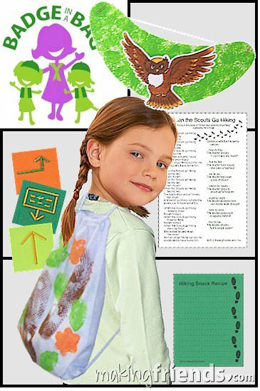 Girl Scout Hiking Badge in a Bag via @gsleader411