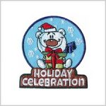 Holiday Celebration Girl Scout Fun Patch