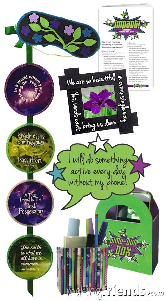 Girl Scout Impact Badge in a Bag via @gsleader411