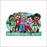 International Night Girl Scout Fun Patch