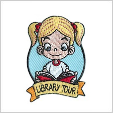Library Tour Girl Scout Fun Patch