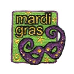 Girl Scout Mardi Gras Fun Patch