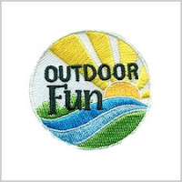 Outdoor Girl Scout Fun Patch for Great Outdoors Month