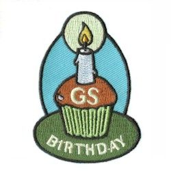 Girl Scout Birthday Fun Patch