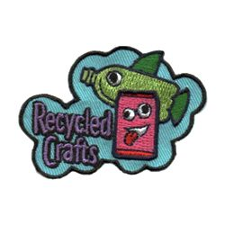 Girl Scout Recycled Crafts Fun Patch