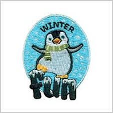 Winter Fun Girl Scout Fun Patch