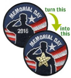 Girl Scout Memorial Day Patch