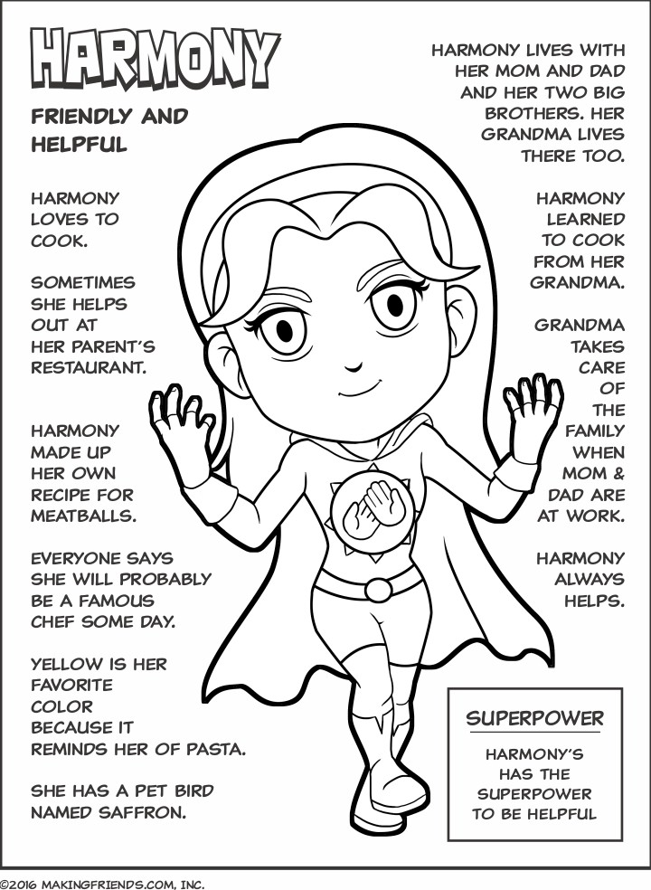 superhero honest fair superhero friendly helpful