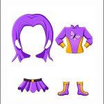 Superhero Paper Dolls | Delilah Costume