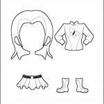 Superhero Paper Dolls | Delilah Costume Outline