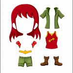 Superhero Paper Dolls | Freedom Costume