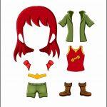 Superhero Paper Dolls | Freedom Costume