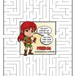 Girl Scout Daisy Red Petal Superhero Maze | Freedom