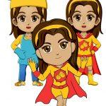 Superhero Harmony Paper Doll