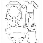 Superhero Paper Dolls | Harmony Clothes Outline