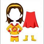 Superhero Paper Dolls | Harmony Costume