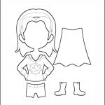 Superhero Paper Dolls | Harmony Costume Outline