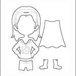 Superhero Paper Dolls | Harmony Costume Outline
