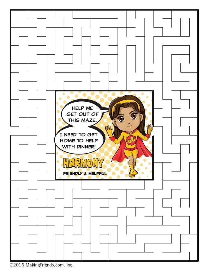 Daisy Yellow Petal Superhero Maze Harmony