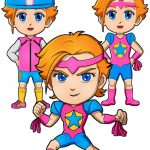 Superhero Justice Paper Doll