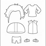 Superhero Paper Dolls | Justice Clothes Outline