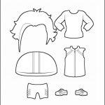 Superhero Paper Dolls | Justice Clothes Outline