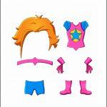 Superhero Paper Dolls |  Justice Costume
