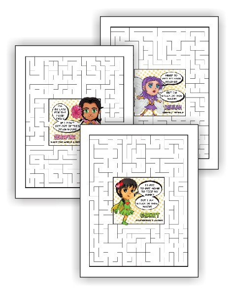 superhero maze pages - Girl Scout Camping Coloring Pages