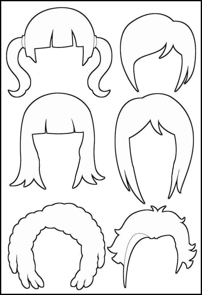 printable coloring pages haircuts - photo#32