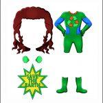 Superhero Paper Dolls |  Prudence Costume