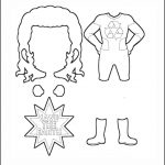 Superhero Paper Dolls |  Prudence Costume Outline