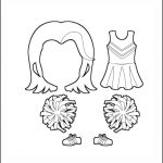 Superhero Paper Dolls | Serafina Clothes Outline