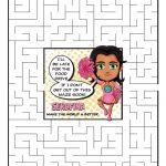 Girl Scout Daisy Rose Petal Superhero Maze | Serafina