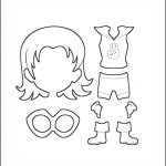 Superhero Paper Dolls | Sincerity Costume Outline