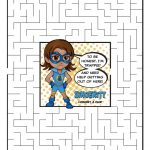 Girl Scout Daisy Light Blue Petal Superhero Maze | Sincerity