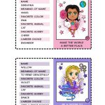 Superhero Trading Cards | Serafina and Willow