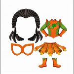 Superhero Paper Dolls | Twilight Costume