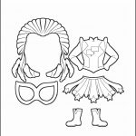 Superhero Paper Dolls | Twilight Costume Outline