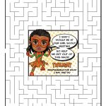 Girl Scout Daisy Orange Petal Superhero Maze | Twilight