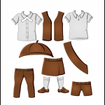 Superhero Paper Dolls Brownie Uniforms
