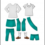 Superhero Paper Dolls Junior Uniforms