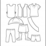 Superhero Paper Dolls Girl Scout Uniforms Outline