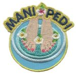 Mani and Pedi Girl Scout Fun Patch