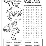 Girl Scout Daisy Light Green Petal Superhero Word Search | Charity