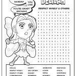Girl Scout Daisy Purple Petal Superhero Word Search | Delilah