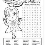 Girl Scout Daisy Yellow Petal Superhero Word Search | Harmony