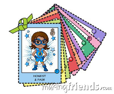 Girl Scout Superhero Law Cards Download via @gsleader411